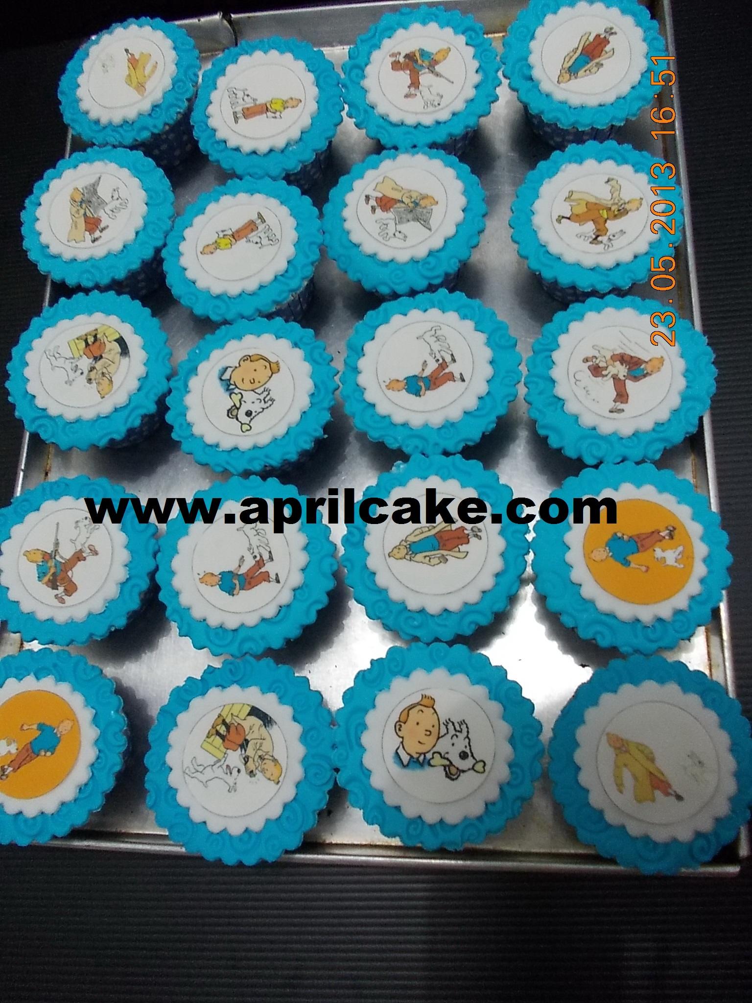 Tintin cupcake Raian