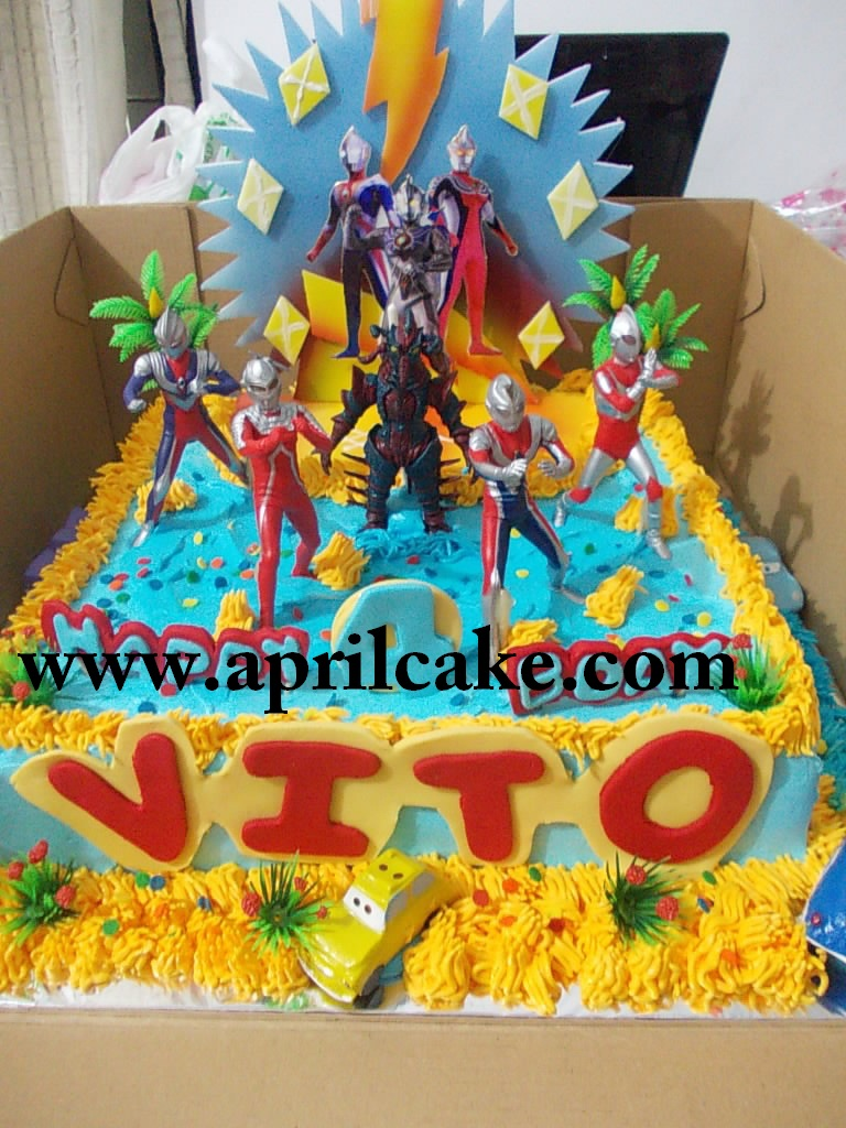 Ultraman Cake Vito April Cake