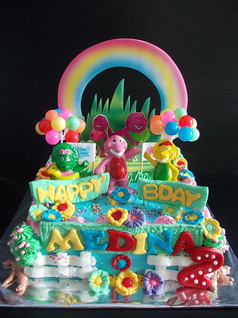 Barney Buttercream Cake Medina