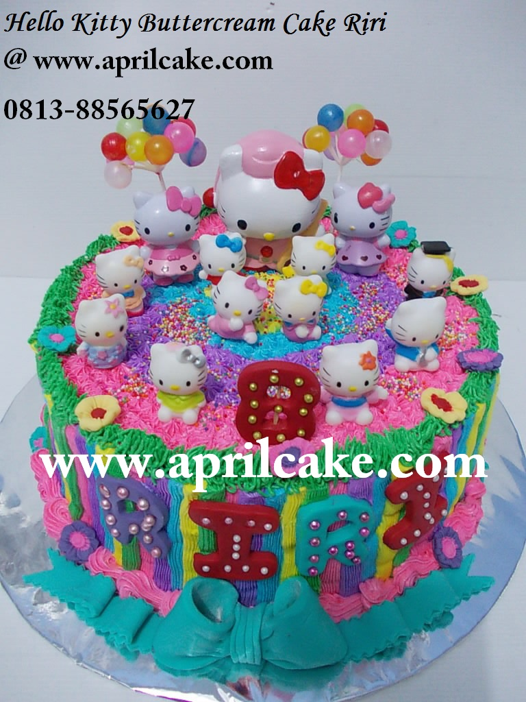 Hello Kitty Cake Buttercream Riri