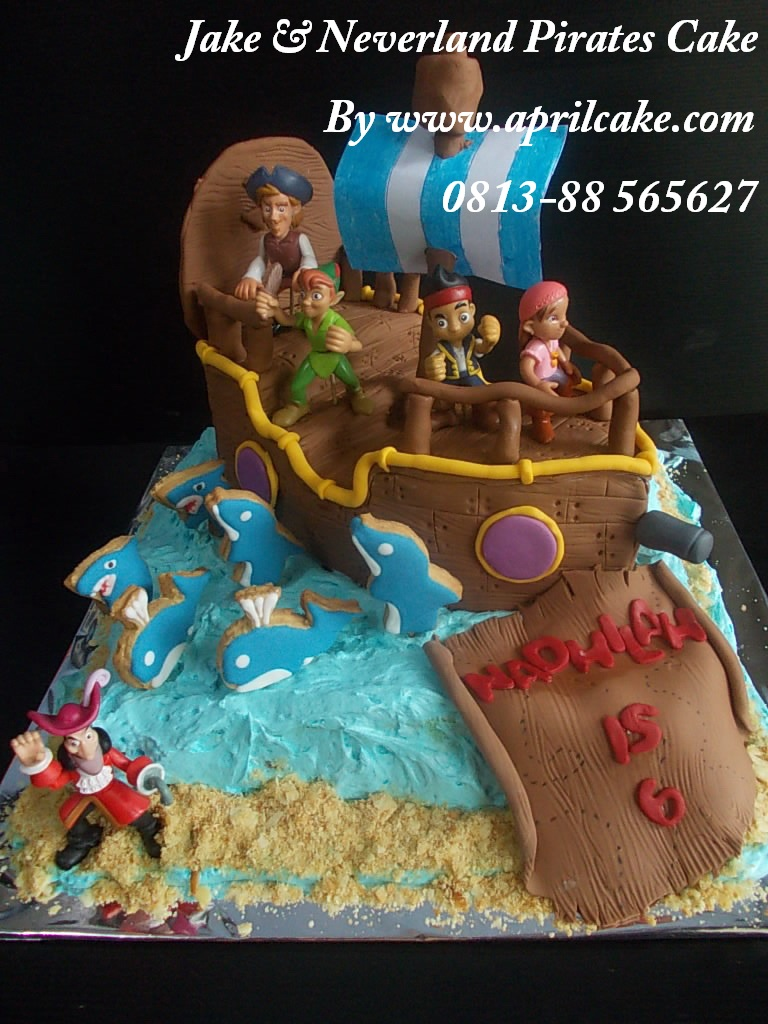 Jake and Neverland cake Nadhilah