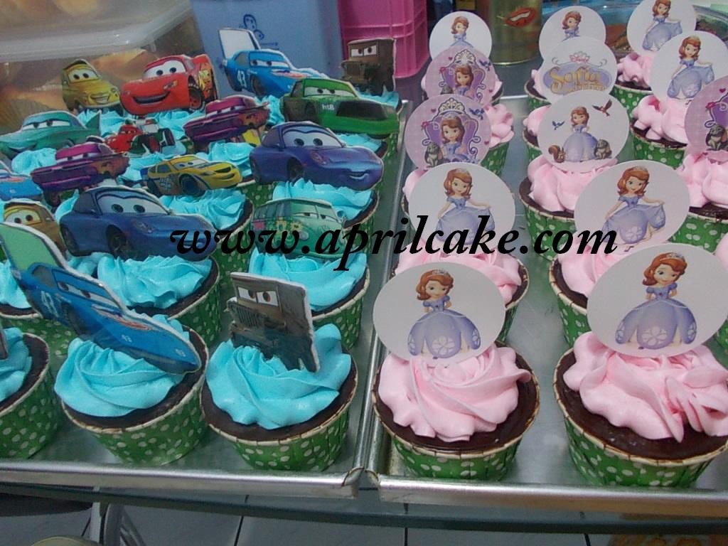 Cupcake Sofia dan Cars
