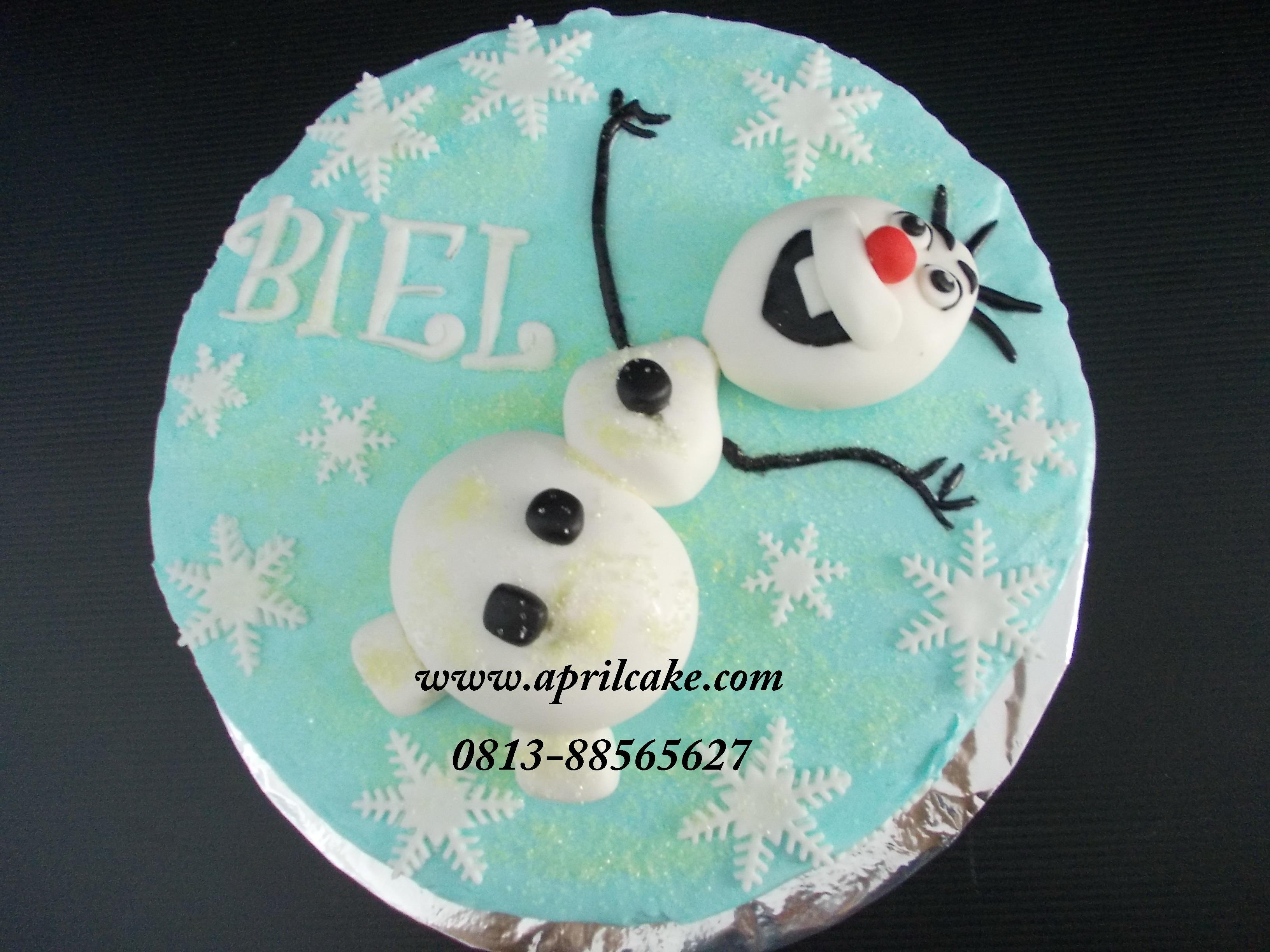 Olaf Frozen Cake Biel