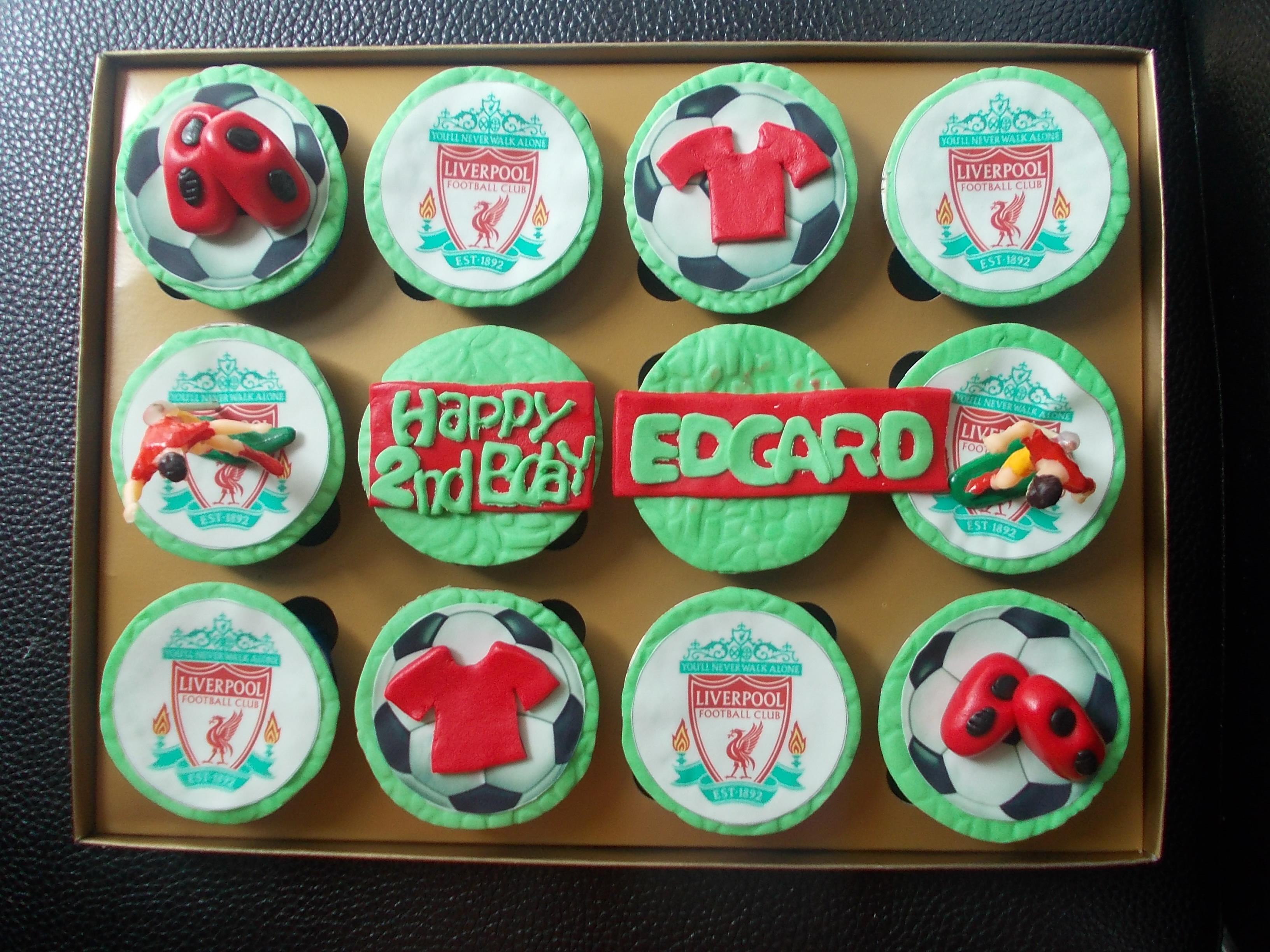 Cupcake Bola Liverpool Edgar