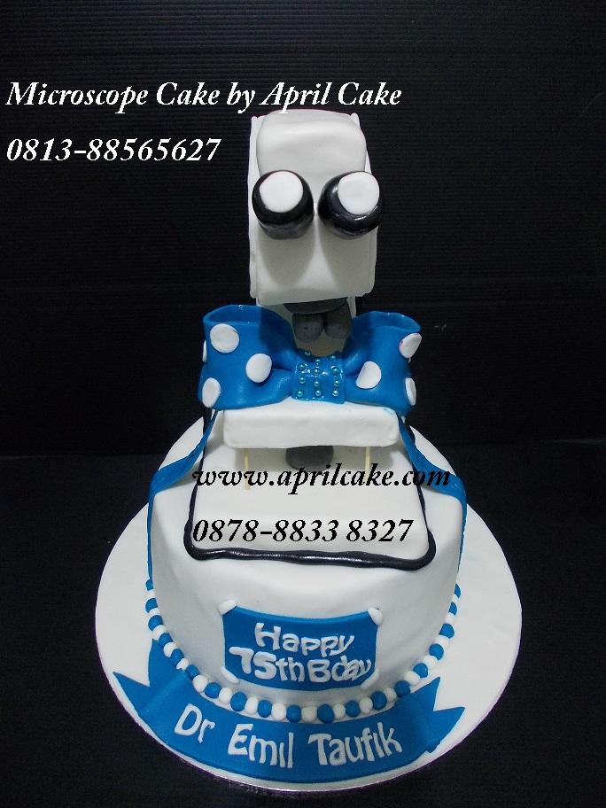 Microscope cake Nada