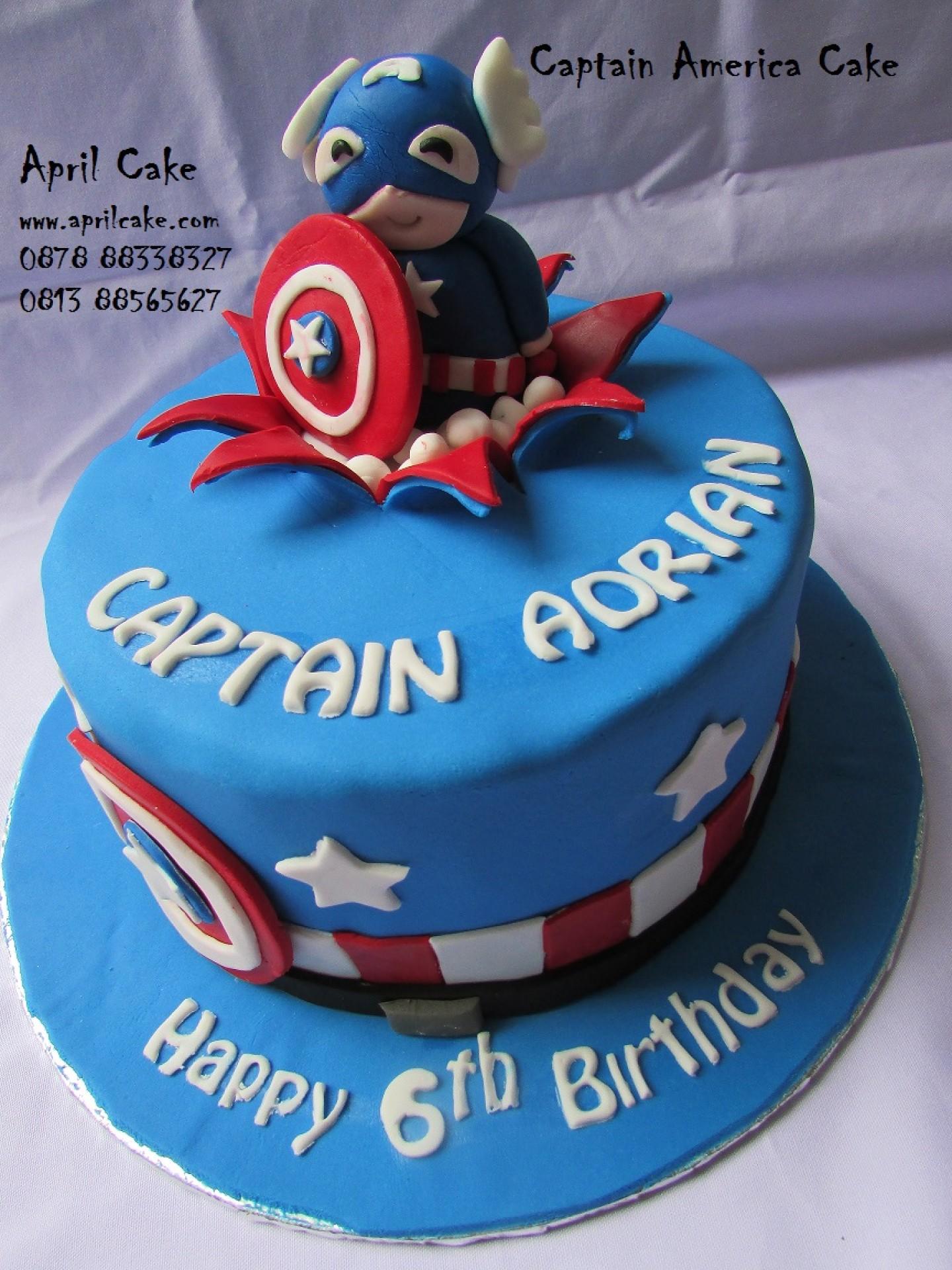 Image for Captain America Birthday Cake Ideas